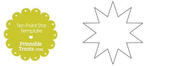 Printable Ten Point Star Template