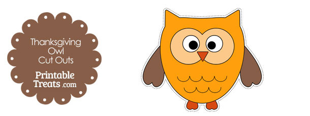 Printable Thanksgiving Owl