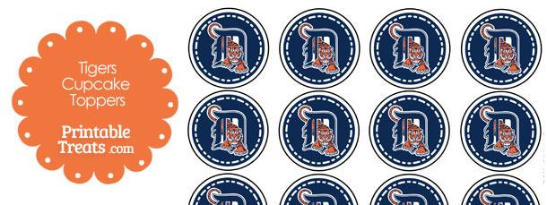 Printable Tigers Logo Cupcake Toppers