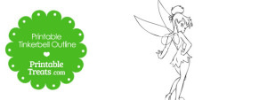 Printable Tinkerbell Outline