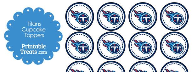 Printable Titans Logo Cupcake Toppers