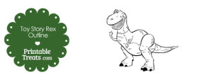 Printable Toy Story Rex Outline