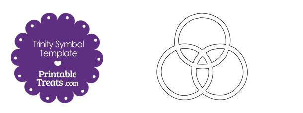 Printable Trinity Symbol Rings
