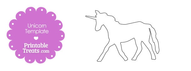 Printable Unicorn Shape Template