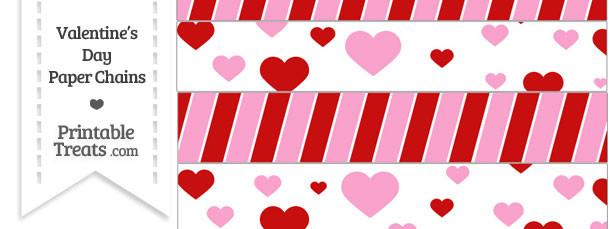 Printable Valentines Day Paper Chains