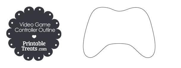 Printable Video Game Controller Outline