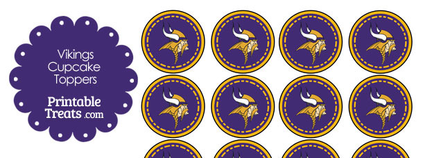 Printable Vikings Logo Cupcake Toppers