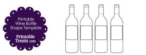 Printable Wine Bottle Shape Template