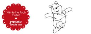 Printable Winnie the Pooh Outline