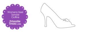 Printable Womens Heel Sandal Outline