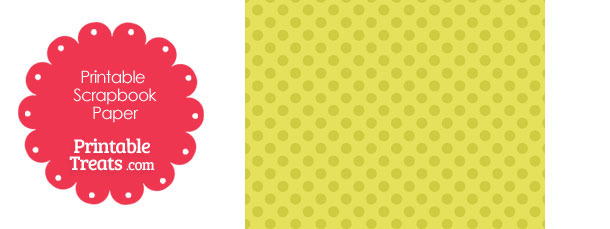 Printable Yellow Polka Dot Paper from PrintableTreats.com