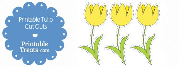 free-printable-yellow-tulip-cut-outs