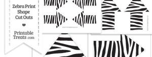 Printable Zebra Print Arrow Cut Outs