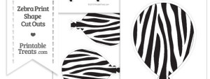 Printable Zebra Print Balloon Cut Outs