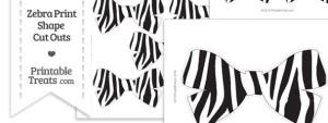 Printable Zebra Print Bow Cut Outs