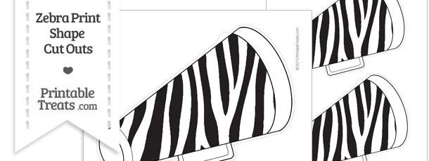 Printable Zebra Print Cheer Megaphone Cut Outs