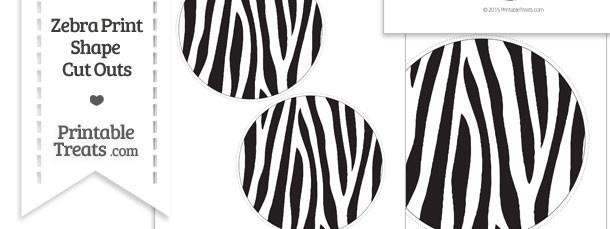 Printable Zebra Print Circle Cut Outs