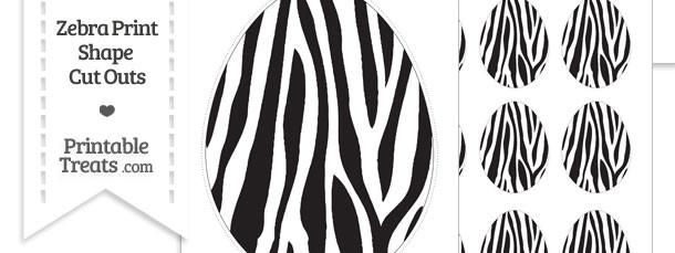 Printable Zebra Print Easter Egg Cut Outs