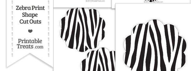 Printable Zebra Print Flower Circle Cut Outs