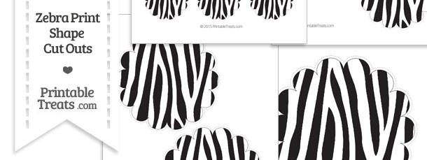 Printable Zebra Print Scalloped Circle Cut Outs