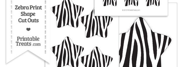 Printable Zebra Print Star Cut Outs
