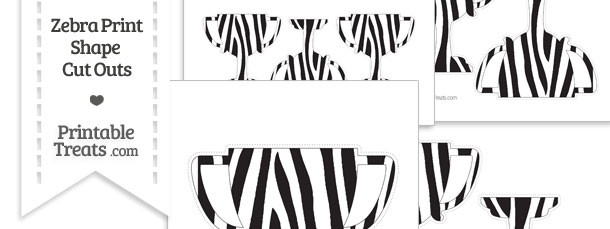 Printable Zebra Print Trophy Cut Outs
