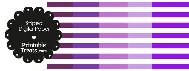 Purple and White Horizontal Striped Digital Scrapbook Paper