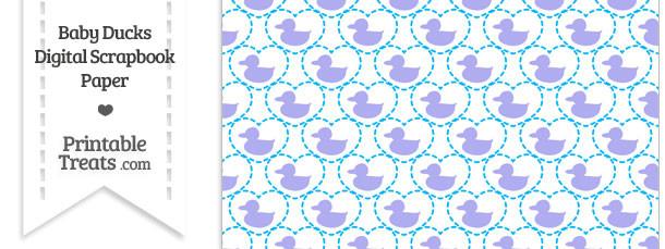 Purple Baby Ducks Digital Scrapbook Paper