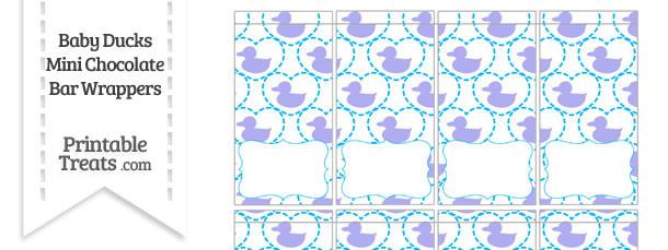 Purple Baby Ducks Mini Chocolate Bar Wrappers