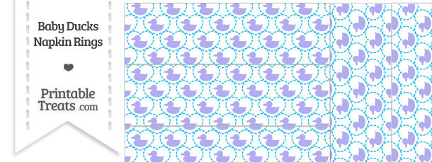 Purple Baby Ducks Napkin Rings