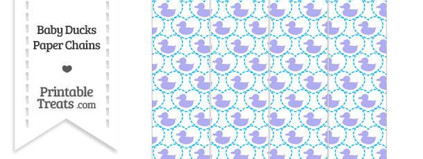 Purple Baby Ducks Paper Chains