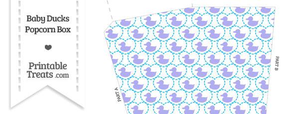 Purple Baby Ducks Popcorn Box
