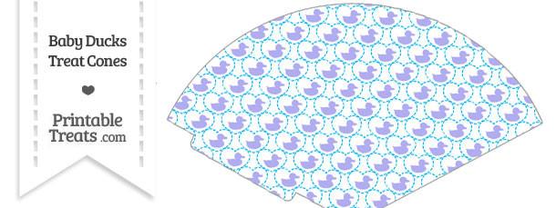 Purple Baby Ducks Treat Cone