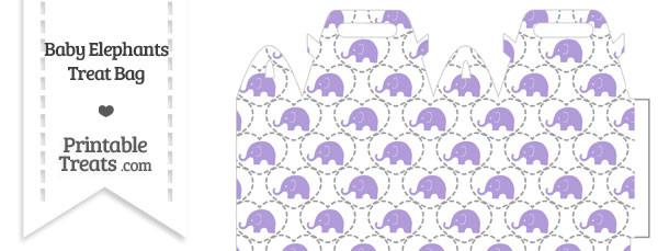 Purple Baby Elephants Treat Bag