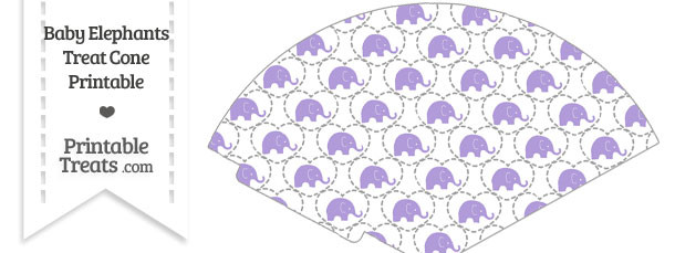Purple Baby Elephants Treat Cone