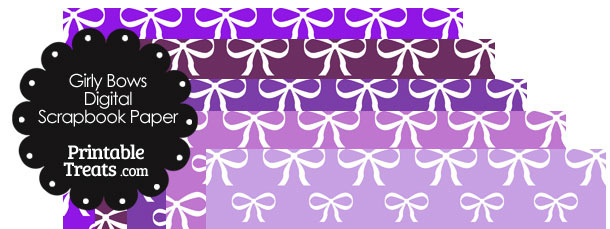 Purple Background Girly Bow Digital Purple Background Girly Bow Digital Scrapbook PaperScrapbook Paper