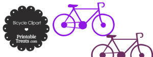 Purple Bicycle Clipart