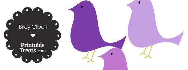 Purple Birdy Clipart