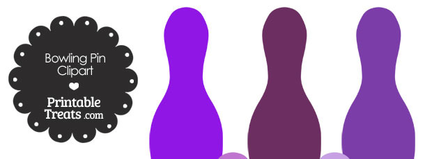 Purple Bowling Pin Clipart