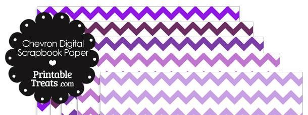 Purple Chevron Digital Scrapbook Paper