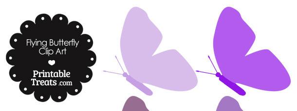 Purple Flying Butterfly Clipart