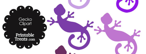 Purple Gecko Clipart