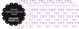 Purple Glasses Digital Scrapbook Paper