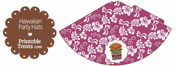 free-purple-hawaiian-party-hat-printable