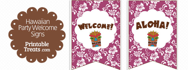 free-purple-hawaiian-party-welcome-sign