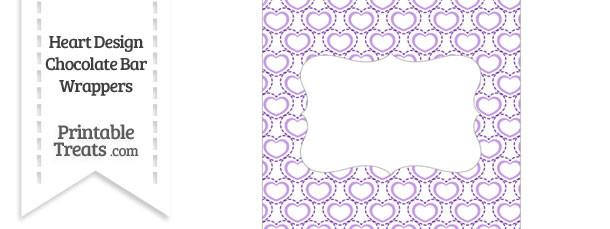 Purple Heart Design Chocolate Bar Wrappers