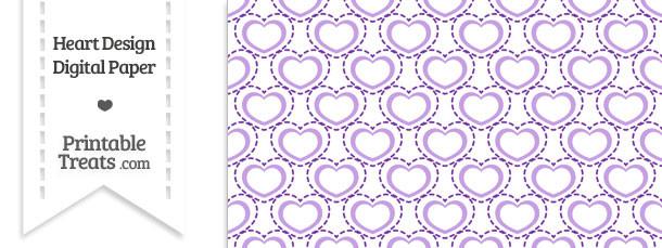 Purple Heart Design Digital Scrapbook Paper