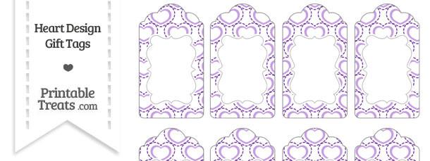 Purple Heart Design Gift Tags
