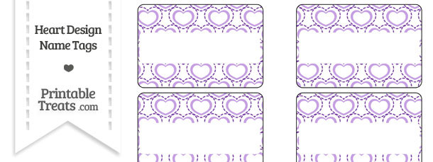 Purple Heart Design Name Tags