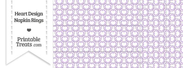 Purple Heart Design Napkin Rings